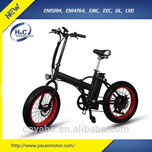 20' LG lithium battery fat tire foldable electric bike bicycle