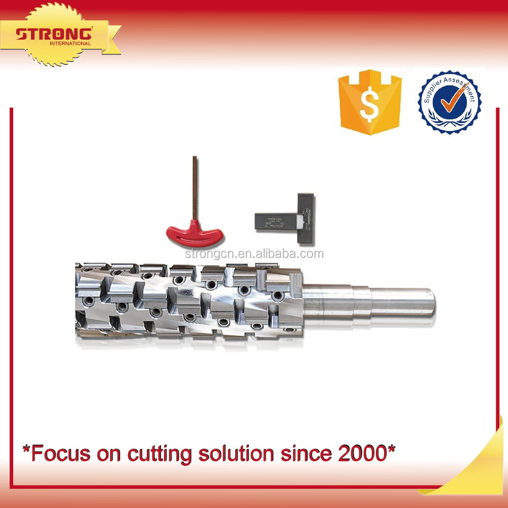 Helical alloy planing tool shaft 4 sides moulder chipper knife