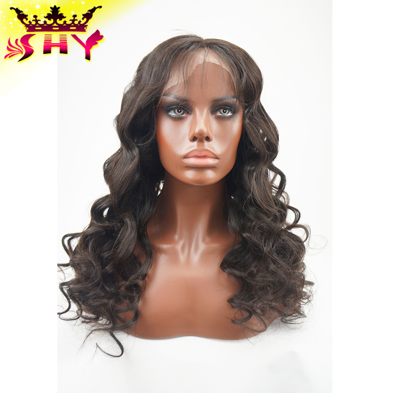 Body wave virgin brazilian human hair full lace wigs for bald women on sale