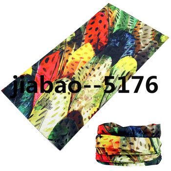 Fashion Scrawl Printed Logo Bandana Multifunctional Headwear Custom Ski Mask