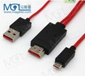 high quality 2m red micro usb to HDMI cable for S5/S4/S3
