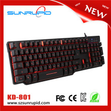 Computer gaming keyboard wired fake mechanical gaming keyboard for laptop PC