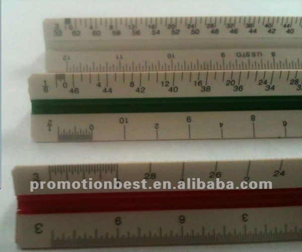 triangular architect scale ruler