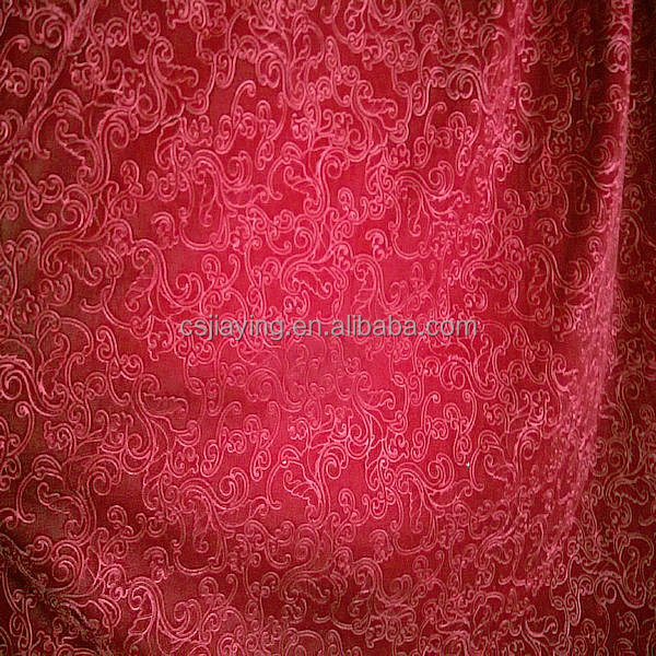 Changshu manufacturer embossed spandex Polyester stretchy Spun Velvet for dress/curtain/sofa and lady leggings