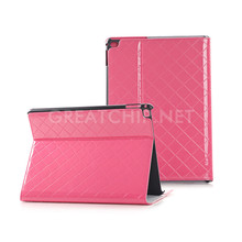 2016 Pink Grid smart PU leather case for IPAD Pro 12.9inch with wake up function
