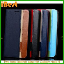 iBest For Samsung Galaxy Note 4 cover New Hybrid leather case,flip cover for galaxy note 4
