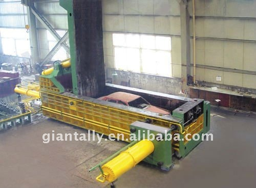 metal scrap, EY81F-100 hydraulic metal baler