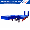 The gooseneck flatbed chassis of China low bed semi trailer manufacturer for truck on sale Dai