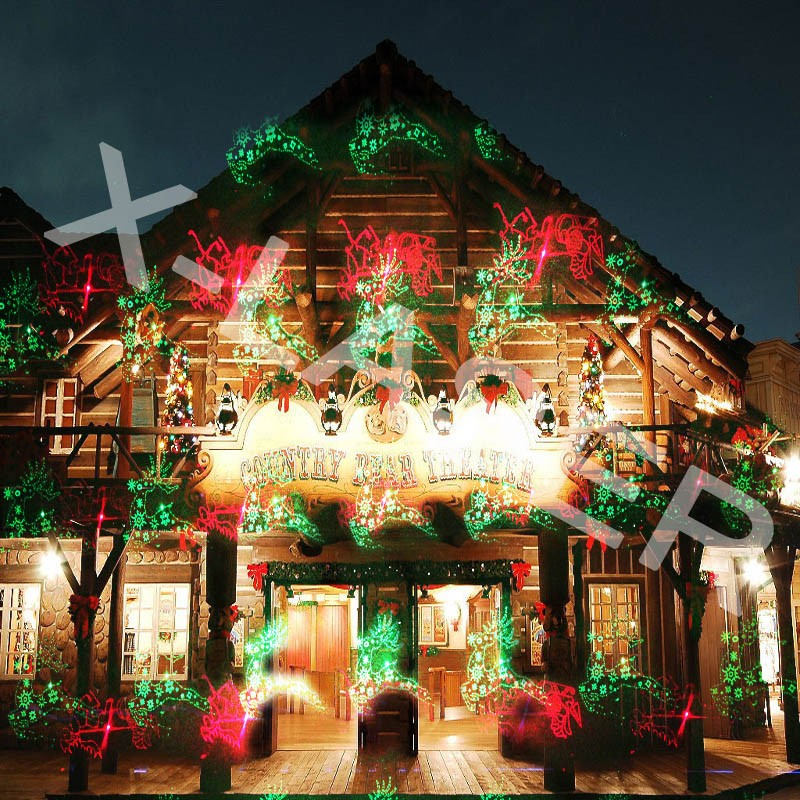 8 12 16 images shooting red green garden decoration christmas outdoor laser light