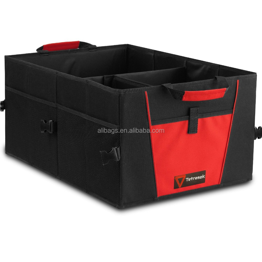 Foldable cartrunk organizer with cooler 6