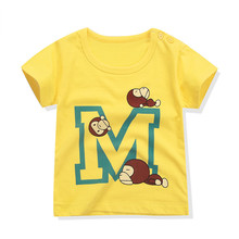 Soft cotton wholesale funny print branded t shirts cheap oem baby printing t shirt