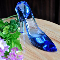 Best Selling Noble Crystal Model Design Crystal High Heel Shoes for Wedding Gifts