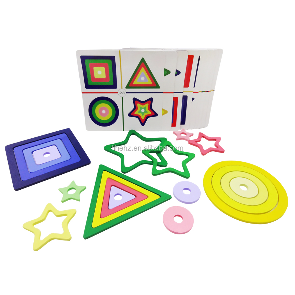Brand New Handmade High Quality Gradient Assembly Game Large Set <strong>Kids</strong> Learning Colors Shades New Design Wooden Children Game