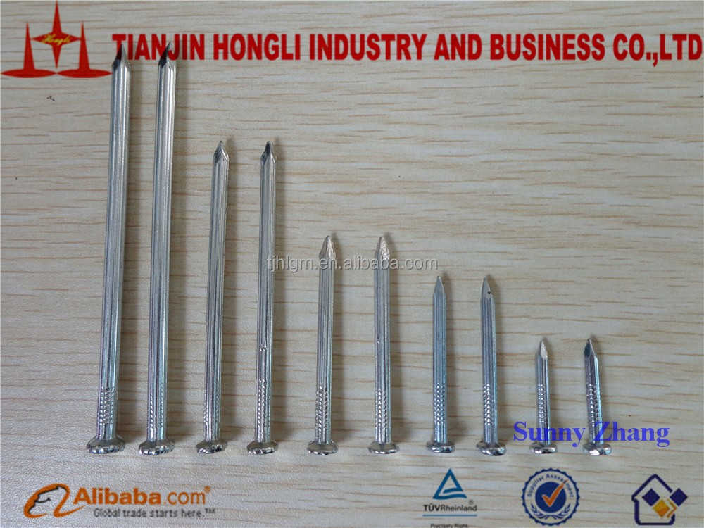 ISO9001:2008 Quenched Concrete Steel Single Grooved Nails