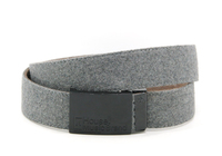 fashion gray cotton webbing men belt with plain buckle