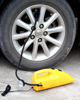 plastic ABS DC 12V car tire hand air pump