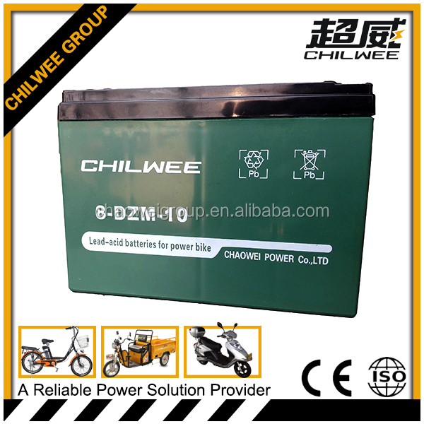 16v10Ah Deep cycle lead acid electric vehicle battery