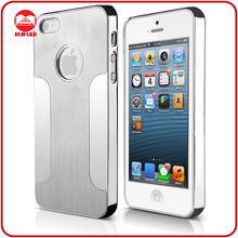 Luxury Siliver Metal Brushed Chrome Aluminum Cell Phone Case for Iphone 5 5G