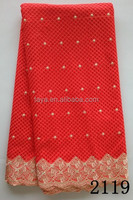 young lady heavy big swiss voile lace for red wedding dress