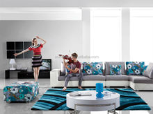 Home blue skid-proof 3d area rug for living room