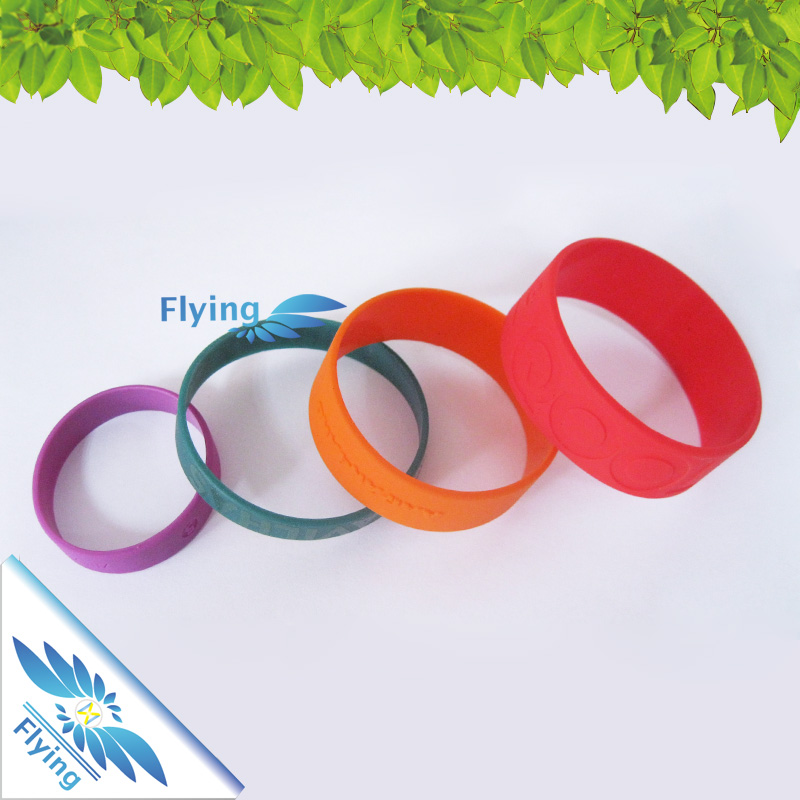 Eco-Friendly Sport Elastic Custom Silicone Thin Rubber Resistance Bands