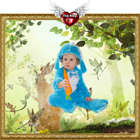 2016 New Carnival Kids Costumes Cosplay Toddler Animal Blue Rabbit Costumes For Kids Baby