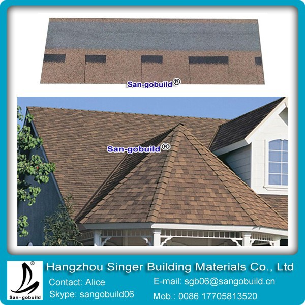 Dimention asphalt shingle/architecture roofing shingle/laminated asphalt roofing shingle