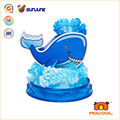 DIY kids toy, whale educational toys for children, magic crystal growing paper for desk decoration