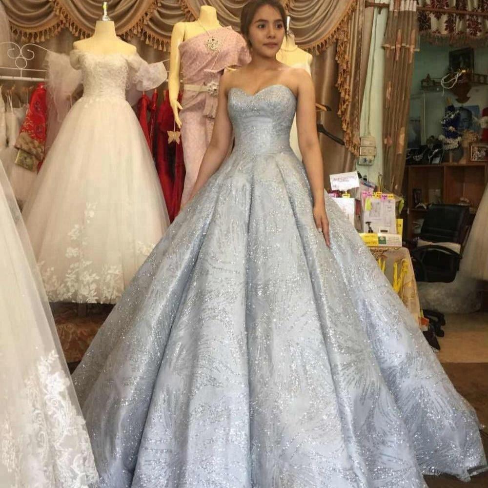 Gaun Bola Mewah Abu-abu Pernikahan Gaun Pengantin Gaun Ha8b - Buy Wedding  Dress Gaun Pengantin,Gaun Pengantin,Pernikahan Mewah Gaun Product on