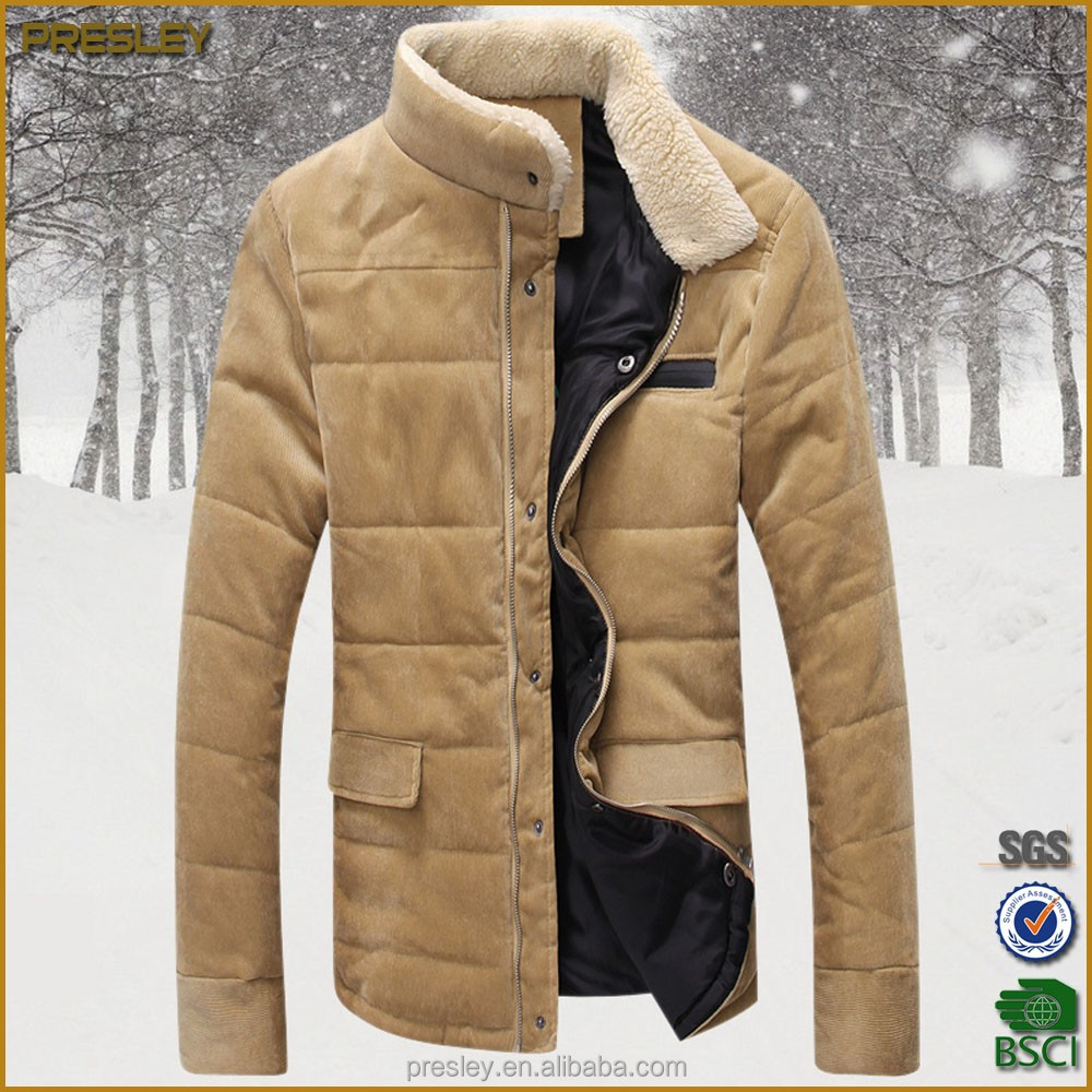 China Oem Cheap Wholesale Winter Quilted Men's Corduroy Jacket Man