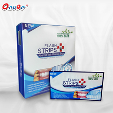 Hot selling private label peroxide free gel teeth whitening strips, 3D white strips