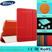 Factory price three folding leather case for apple ipad mini4 case for mini3