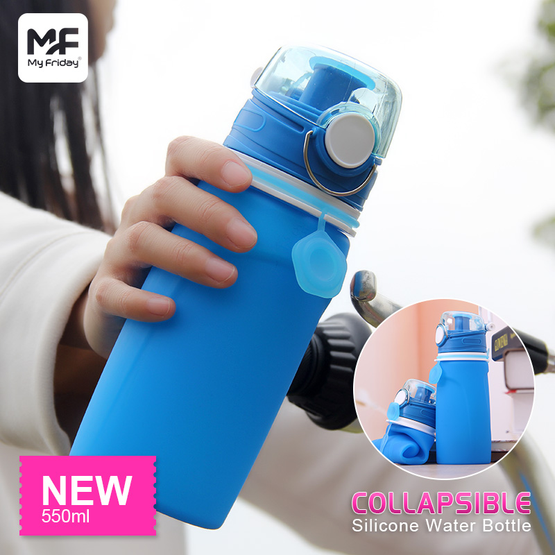 Collapsible Safety Silicone Squeeze Sports Water Bottle