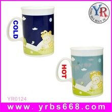 11 oz Custom Design Color Changing Ceramic Mug for Lovely Cartoon Image Design