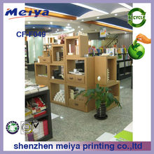 Meiya modular cardboard book shelf/corrugated cardboard furniture/cardboard storage boxes