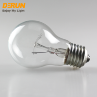 A55 globe lighting E27 B22 clear frosted glass incandescent China light bulbs 120V 127V 240V A19 100w 75watt lamps