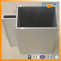 high quality powdered aluminium profile system for facade curtain