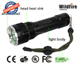 Rechargeable high power black flashlight