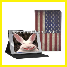 Retro Series Classtic Book Case for iPad 4/3/2/mini Folio PU Leather Smart Cover W/Stand National Flag USA