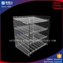 Yageli 4 tray bakery display case acrylic countertop pastry bakery donuts cupcake display case clear containers for candy