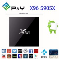 TV box X95 private model with plastic case powerful CPU Kodi 16.1 smart TV box X96