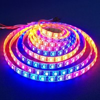 Light Strips Item Type and LED Light Source Waterproof 5m 6803 Ic 5050 Rgb Magic Dream Color Led Strip Light