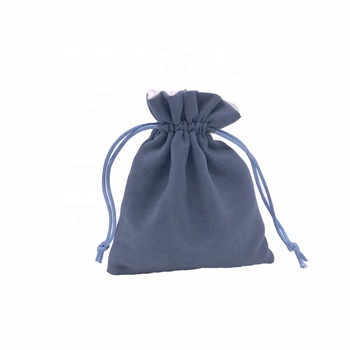 Blue Soft Jewelry Suede Pouch Suede Gift Bag