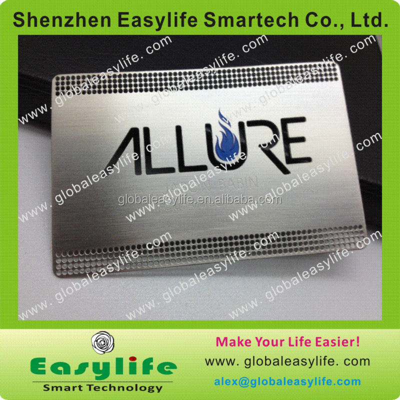 Brushed Surface Nameplate Engraving Metal Personalized Membership Card Shenzhen Stainless Steel Card
