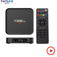 T95M media box iptv Android 6.0 Box With S905X Quad Core 64Bit 1GB 8GB 2.4GHz WiFi android tv box t95m