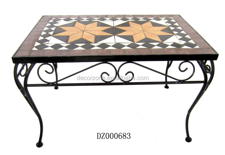 Wholesale Metal Plant Stands with Mosaic Top