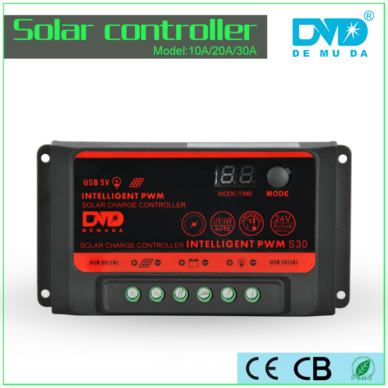 Hot sell 12v 24v solar controller 30a solar controller charger with led display for solar battery