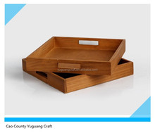 cheap price unfinished wooden craft tray storage tray