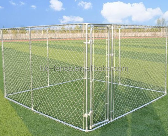 Wholesale large outdoor 10x10x6ft galvanized chain link pet dog kennels & dog house & dog run cages (Alibaba factory)