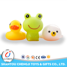 Eco-friendly funny animal 3pcs bathing rubber frog toy for baby